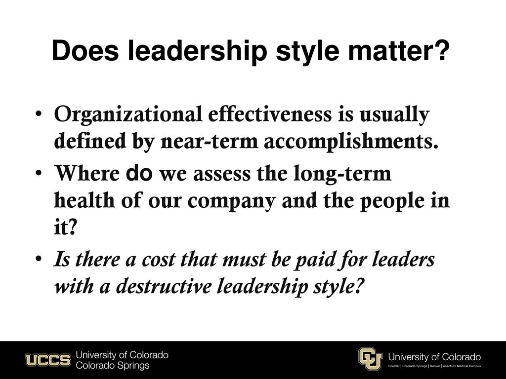 destructive leadership definition
