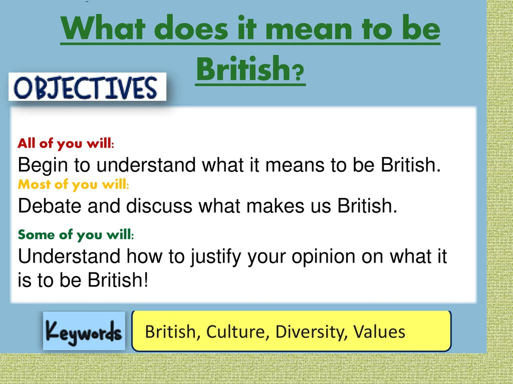 What It Means To Be British Ppt Download