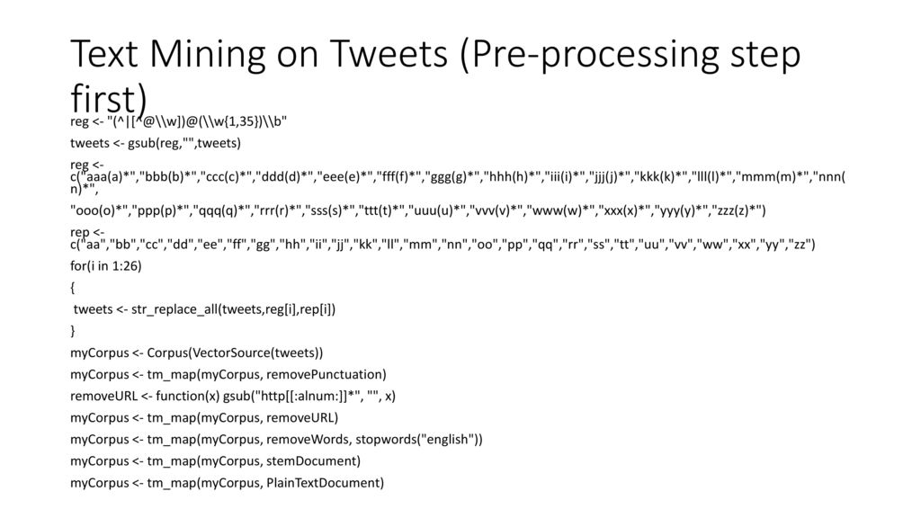 Text Mining : Twitter  - ppt download