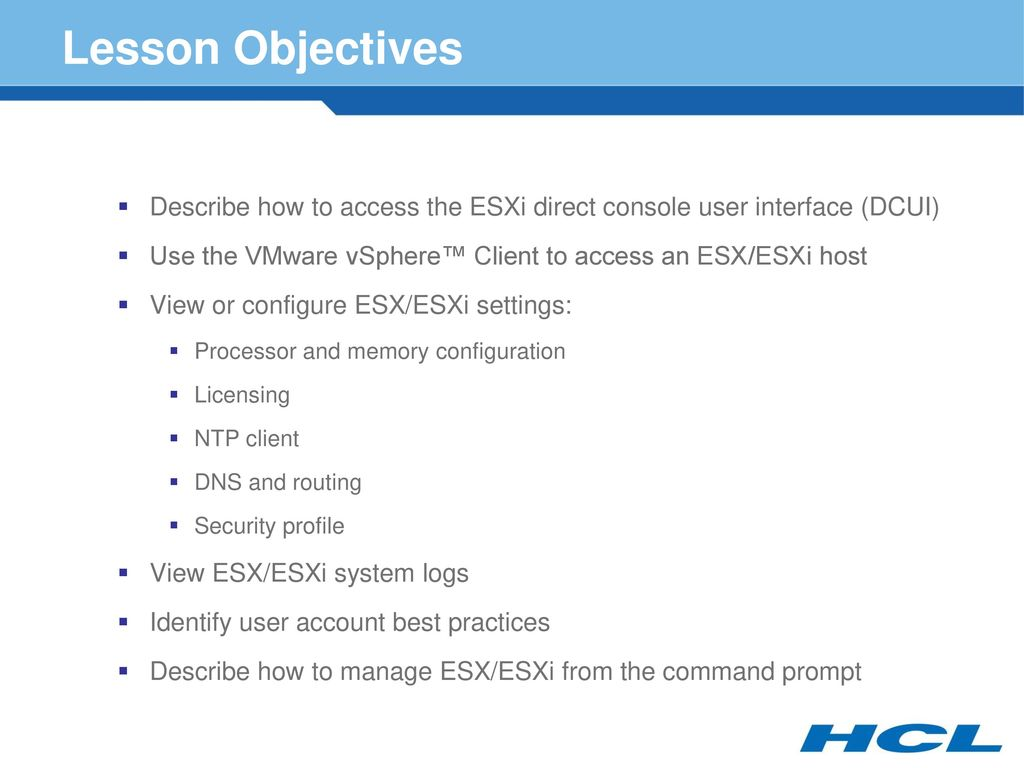 VMware ESX and ESXi Module ppt download