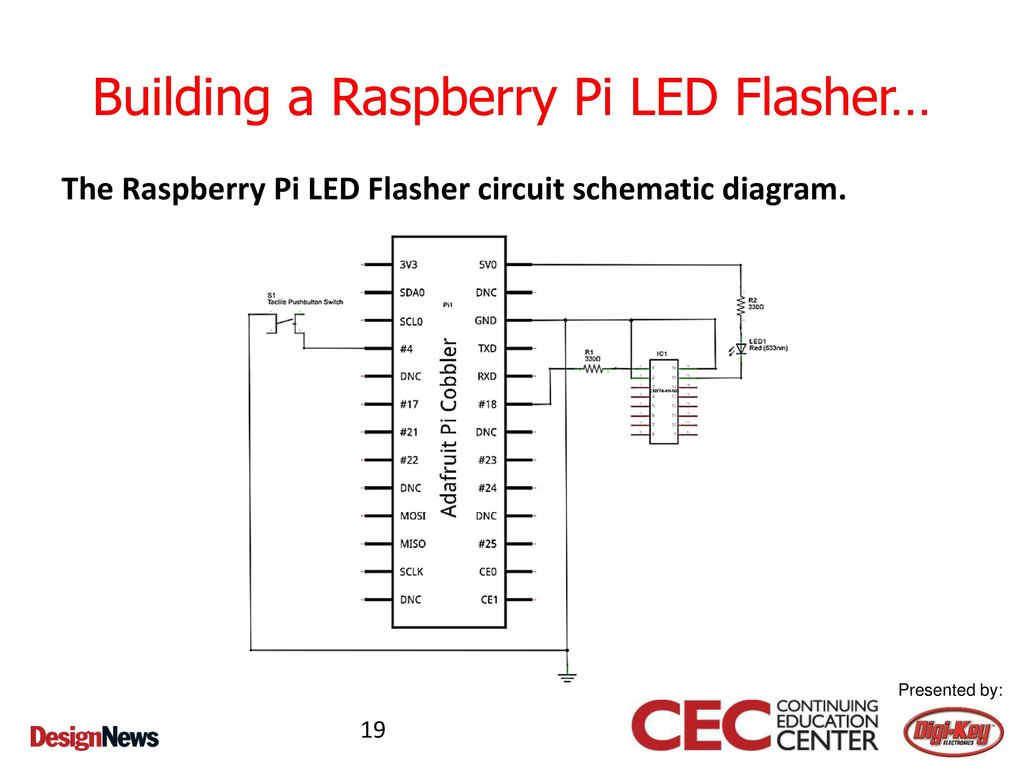 Class 1 Building A Raspberry Pi Led Flasher Ppt Download 2 Circuit Diagram
