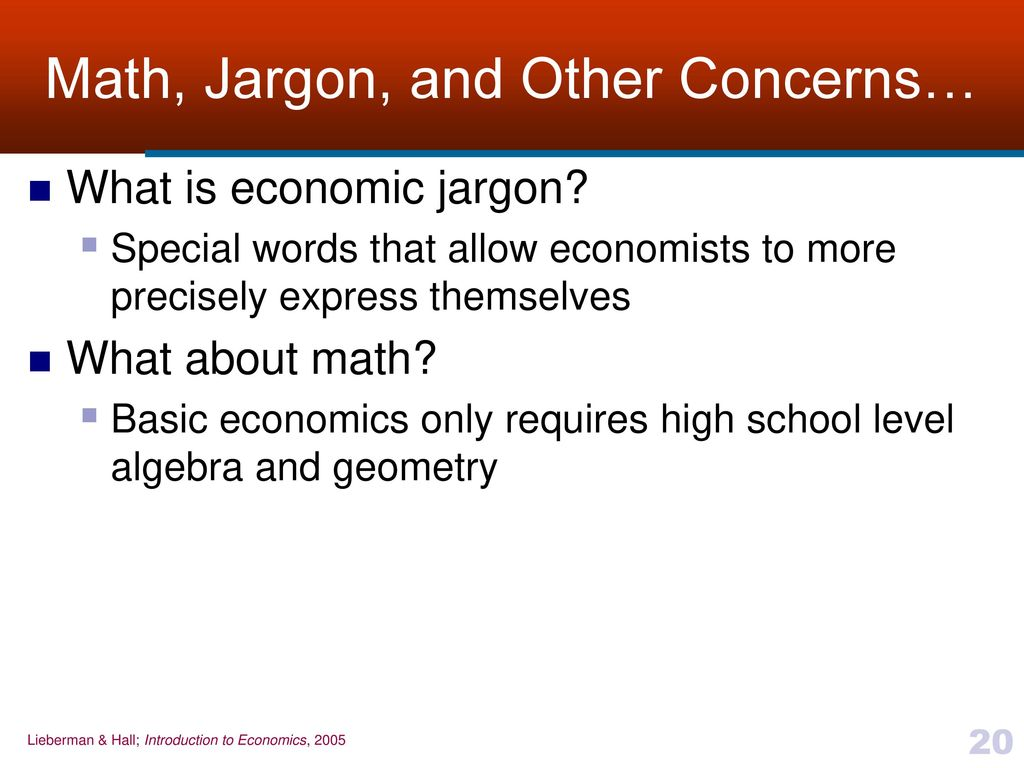 What is economics 32