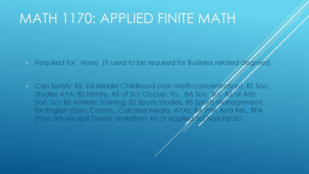 MATh Course Degree Satisfaction - ppt download