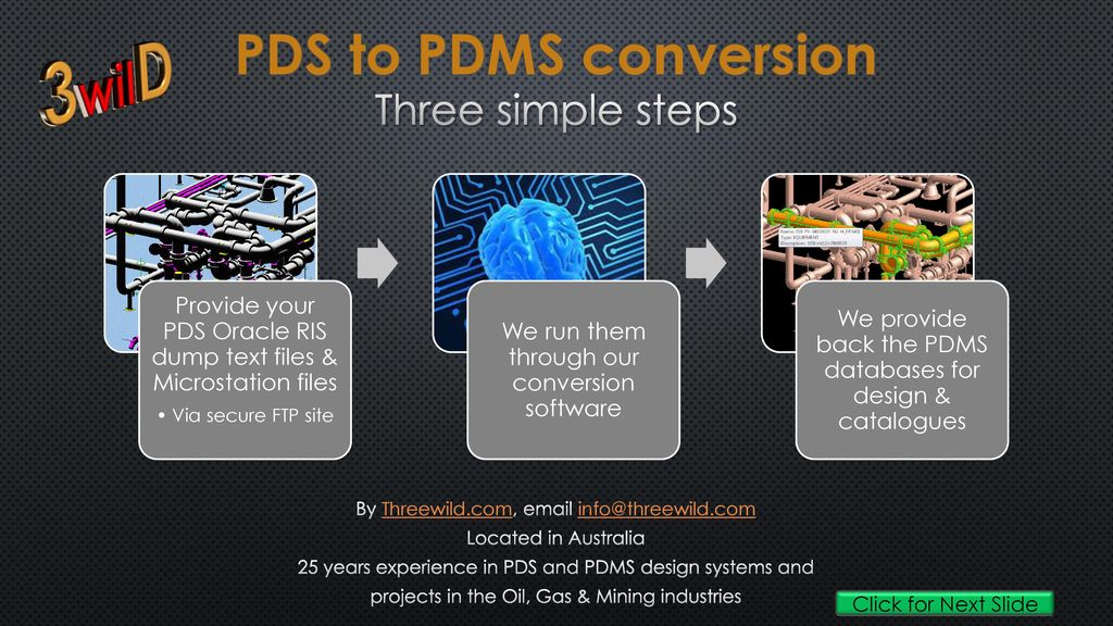 3wilD PDS to PDMS conversion Three simple steps - ppt download