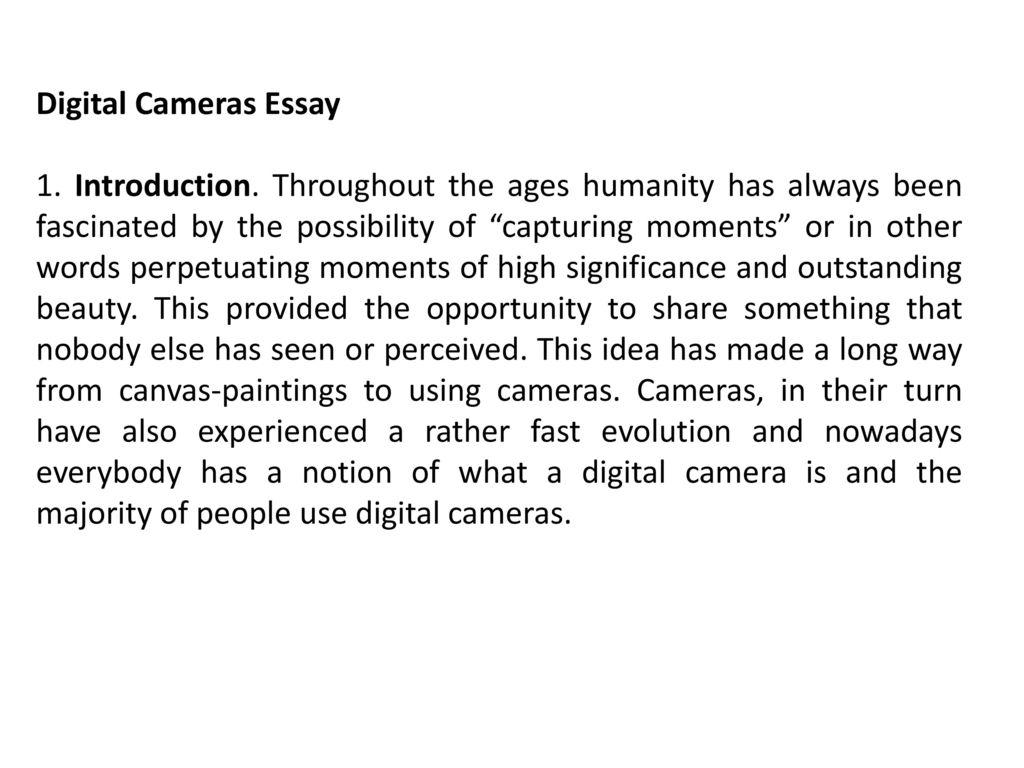 expository essay on digital cameras