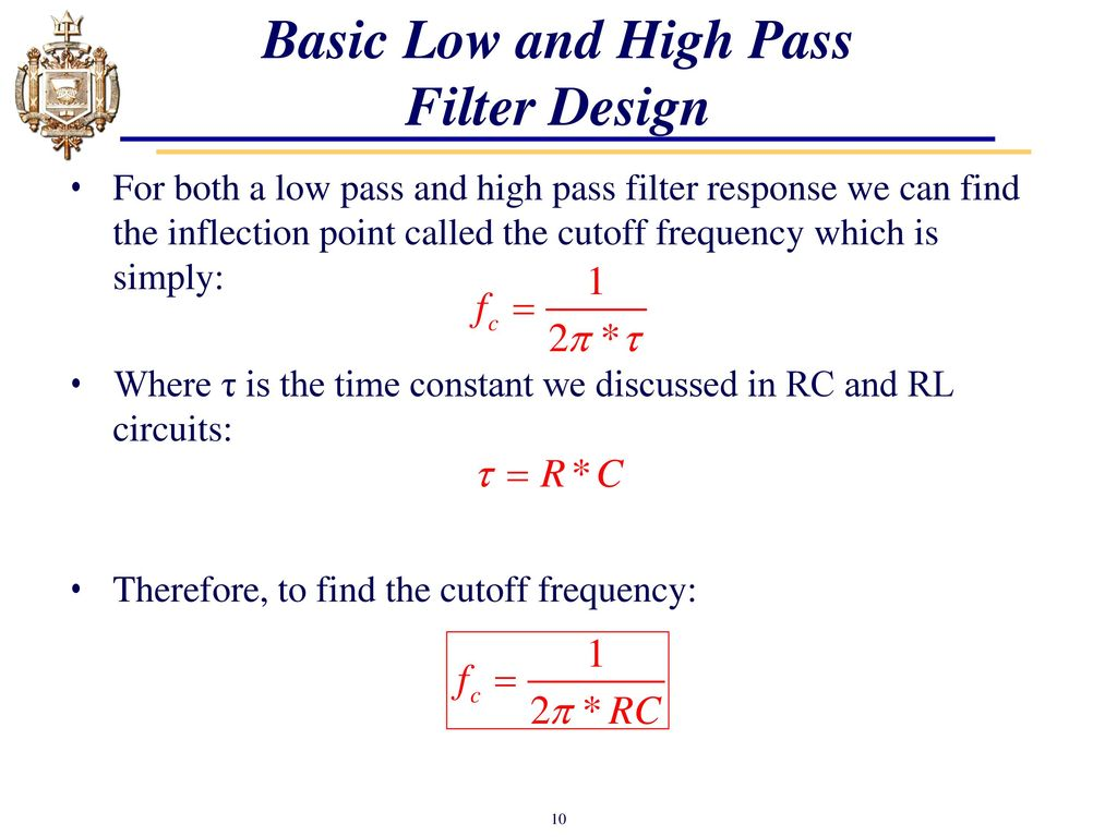 Lesson 24 Introduction To Filters Ppt Download Filter Circuits Basic Low And High Pass Design