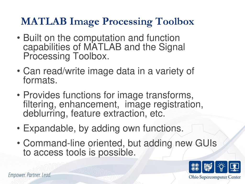 MATLAB for Image Processing - ppt download