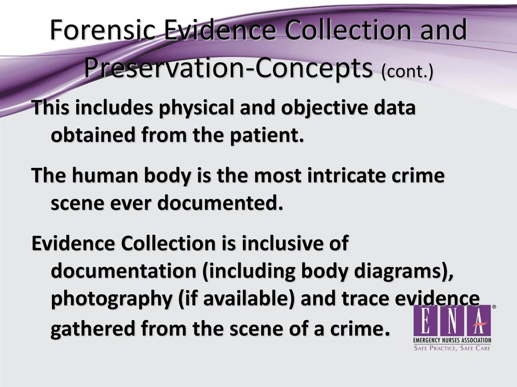 evidence collection guidelines Evidence-based medicine (ebm) is an approach to medical practice intended to optimize decision-making by emphasizing the use of evidence from well-designed and well-conducted research.