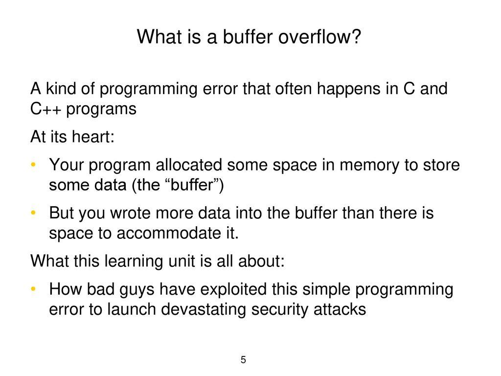 Buffer Overflow C