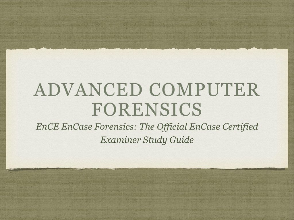 Advanced Computer Forensics Ppt Download