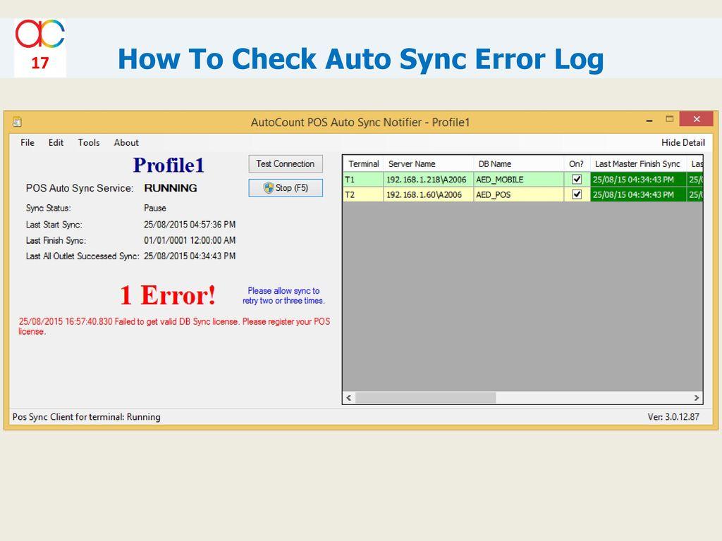 Autosync Error