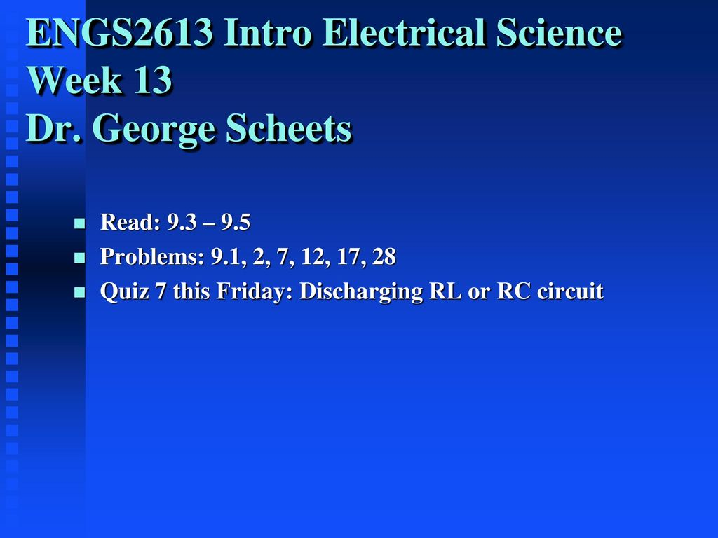 Engs2613 Intro Electrical Science Week 13 Dr George Scheets Ppt Circuitlab Rlc Bandstop Filter