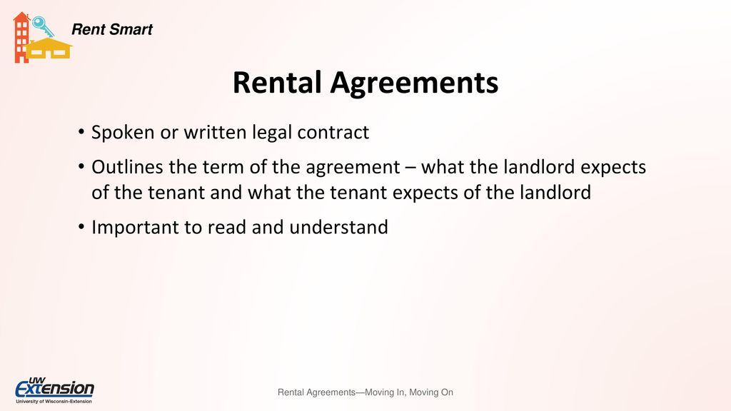Rental Agreements Moving In Moving On Ppt Download