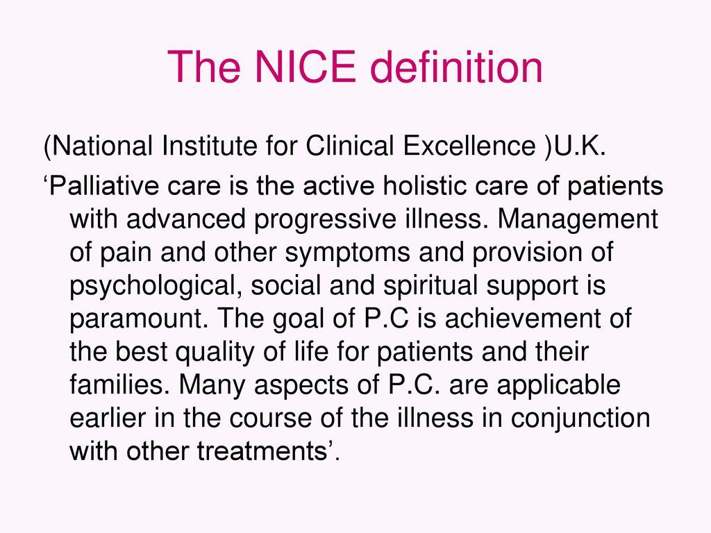 palliative care. - ppt download