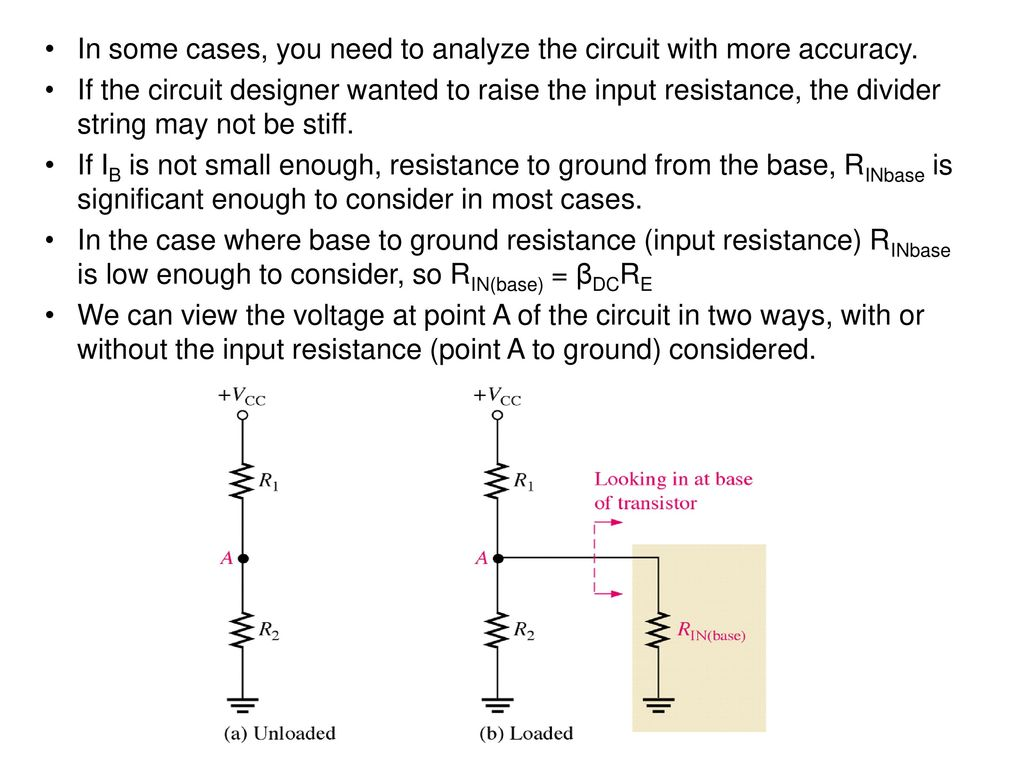 Voltage Divider Bias Is The Most Widely Used Circuit Placed In Base To Ground Oscillator Some Cases You Need Analyze With More Accuracy