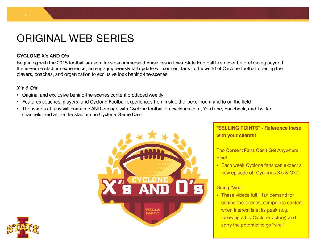 PRESENTING SPONSOR OF CYCLONE FOOTBALL – SPONSORSHIP PACKAGE