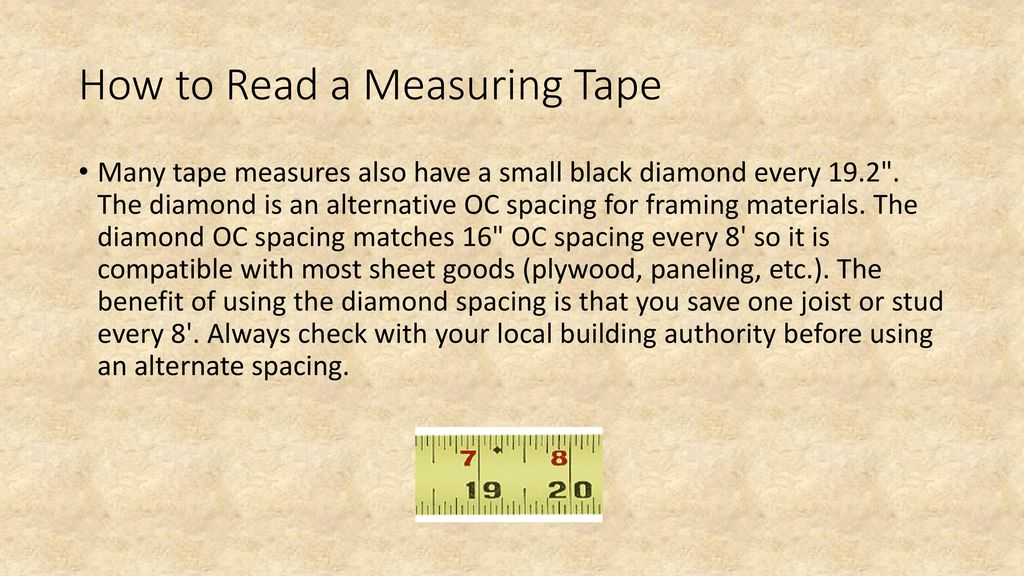 How To Read A Measuring Tape Ppt Download