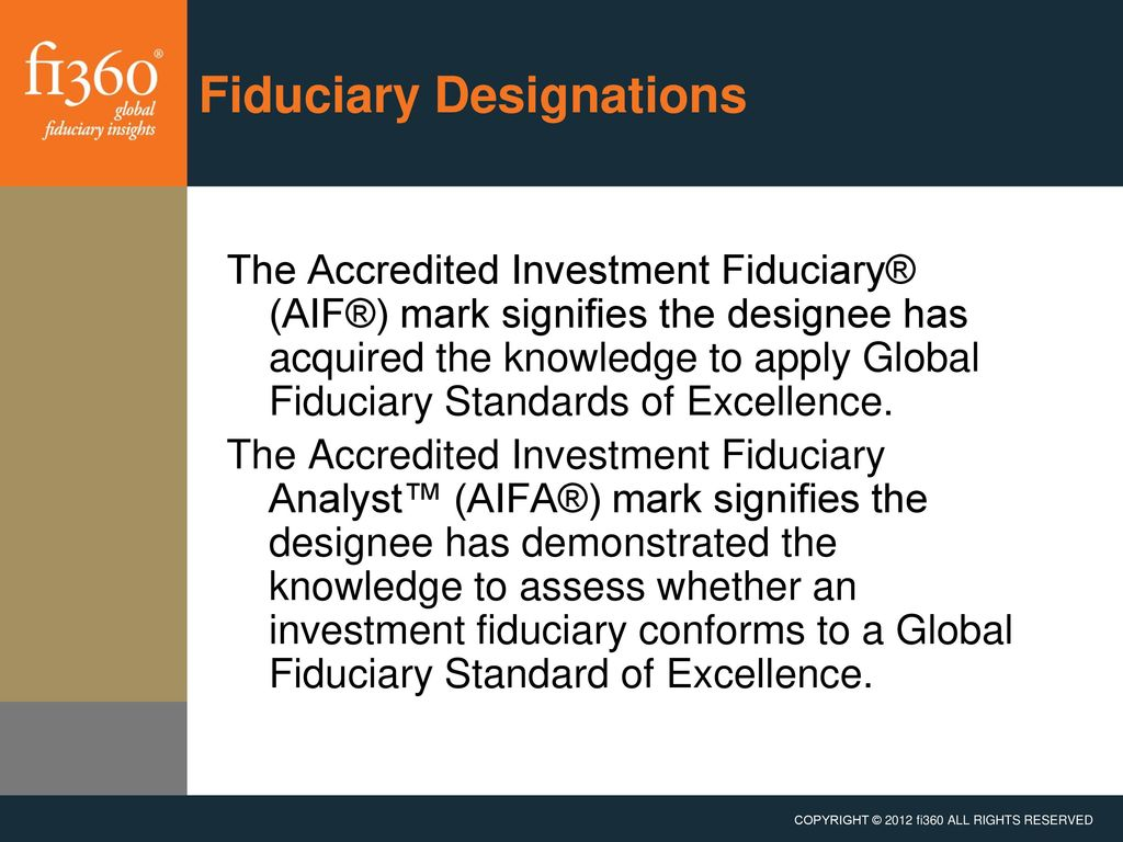 Accredited investment fiduciary examples finanzas forex ponzi