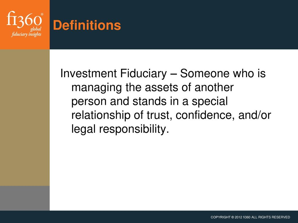 prudent practices for investment fiduciaries - ppt download