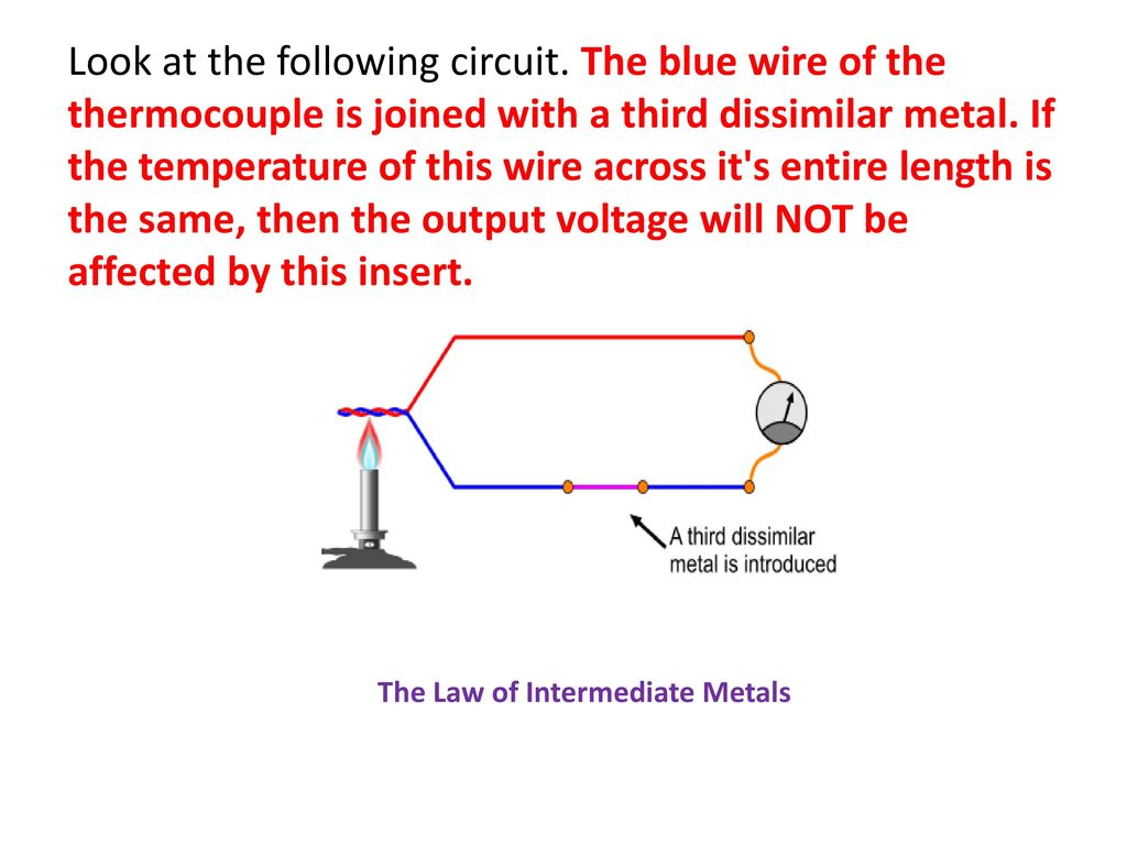 Tempearture Measurement Ppt Download Thermocouple Circuit Look At The Following