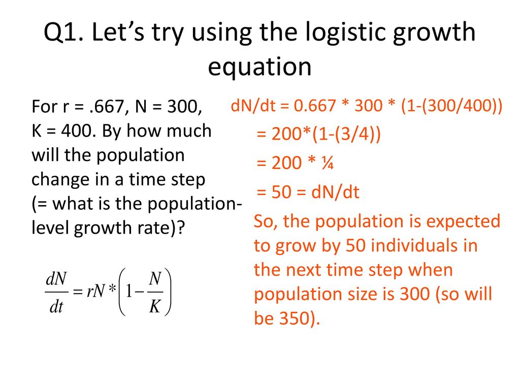 lecture 4: logistic growth equation - ppt download