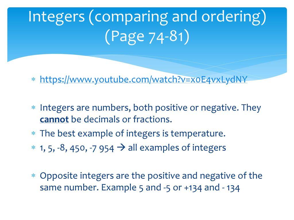 UNIT 2 Integers. - ppt download