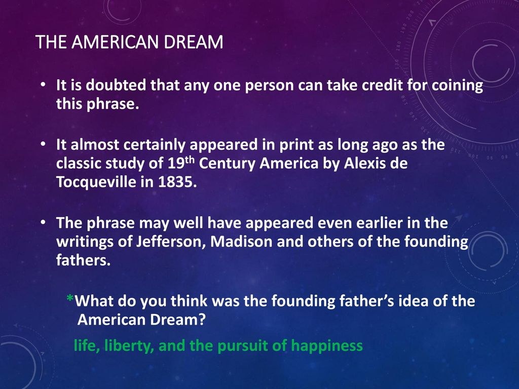 founding fathers american dream