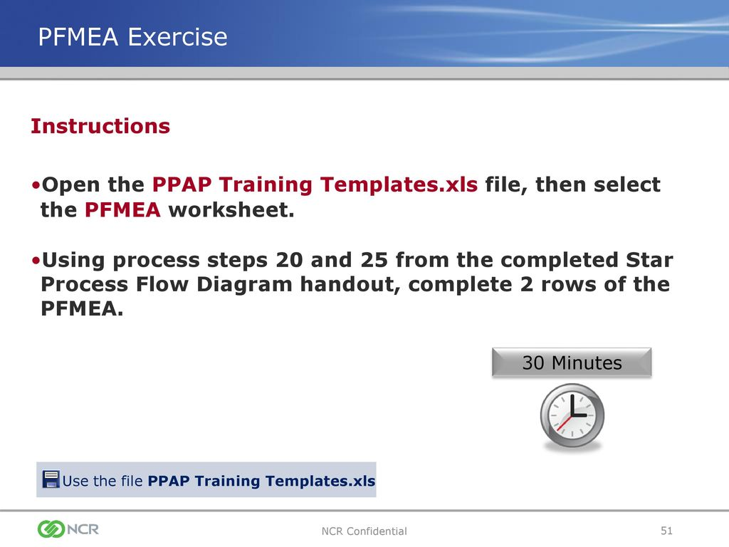 Use the file PPAP Training Templates.xls