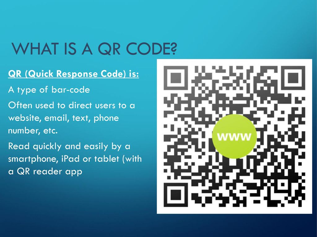 Using QR Codes to Promote Print with the Online Reference