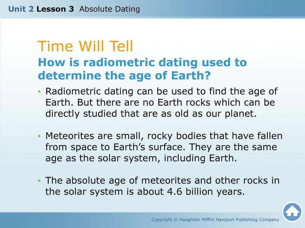 how is radiometric dating used to determine the age of earth