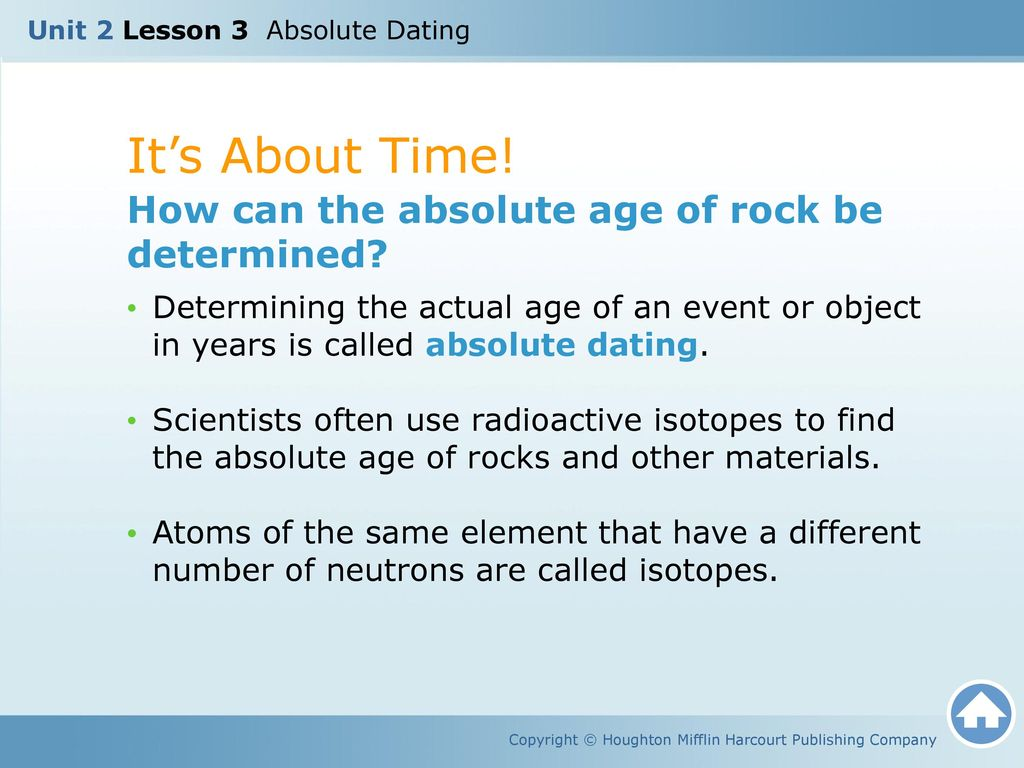 Lesson 3 dating with radioactivity