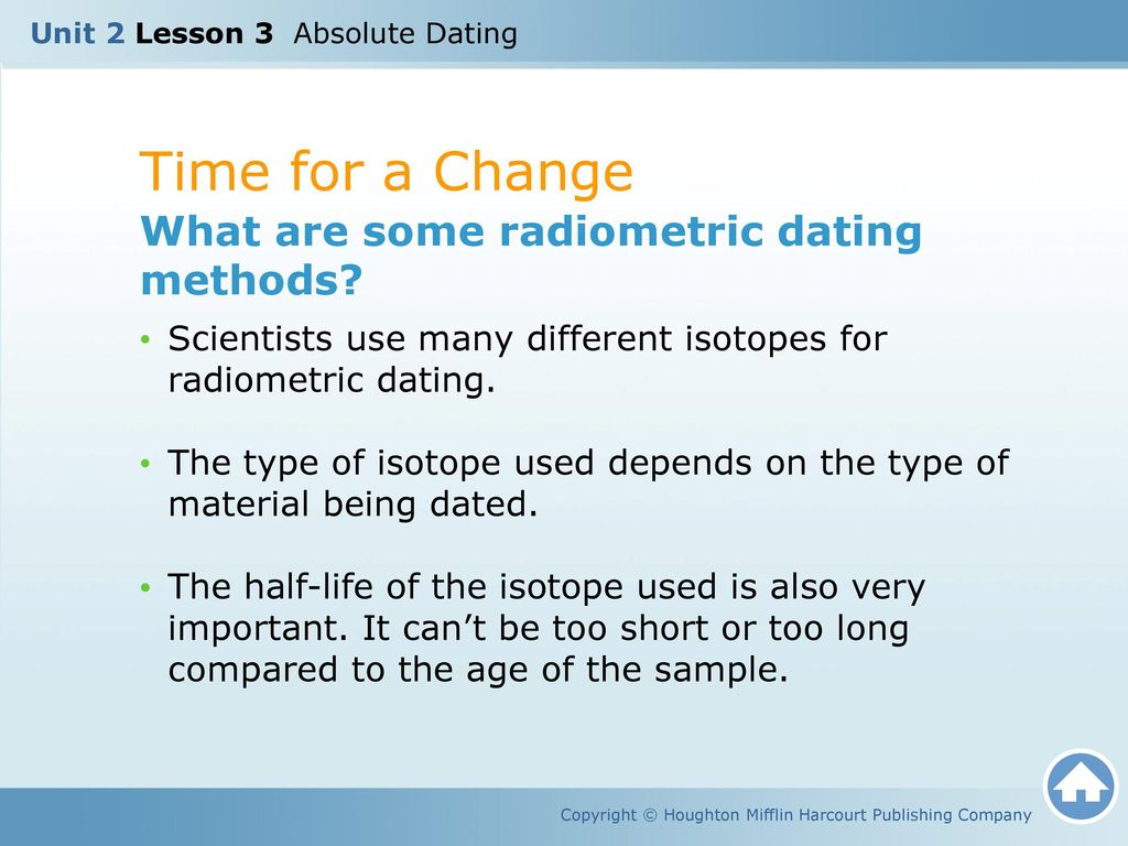 List 4 types of radiometric dating