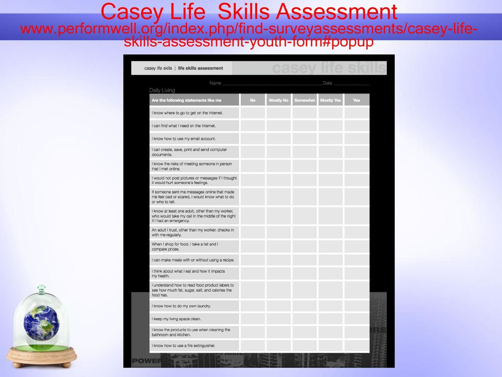 photograph about Ansell Casey Life Skills Assessment Printable referred to as In the direction of deal with Psycho-Social and Psychological Conditioning Necessities and