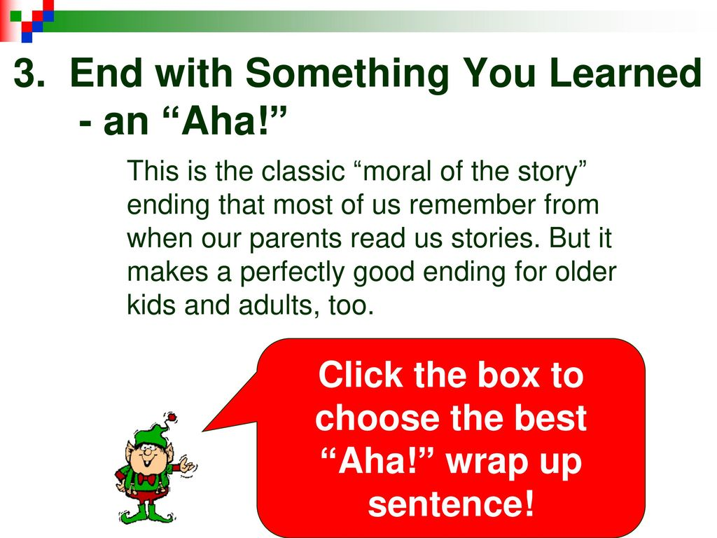 a good ending sentence