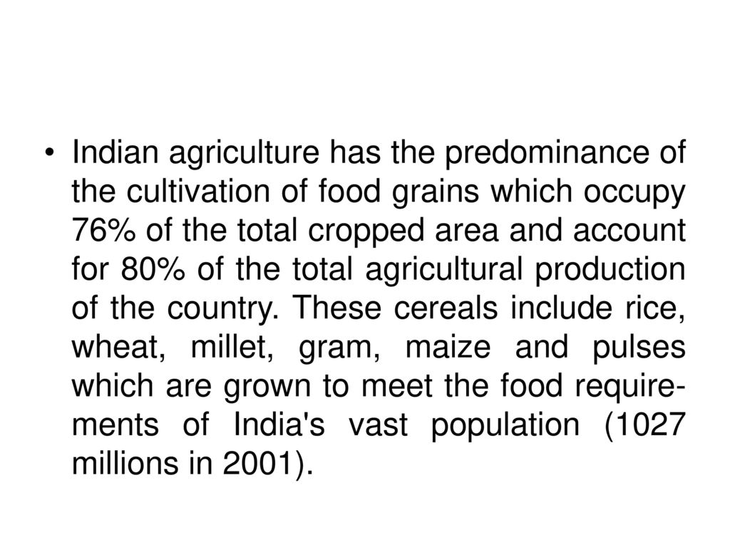 total agricultural production in india