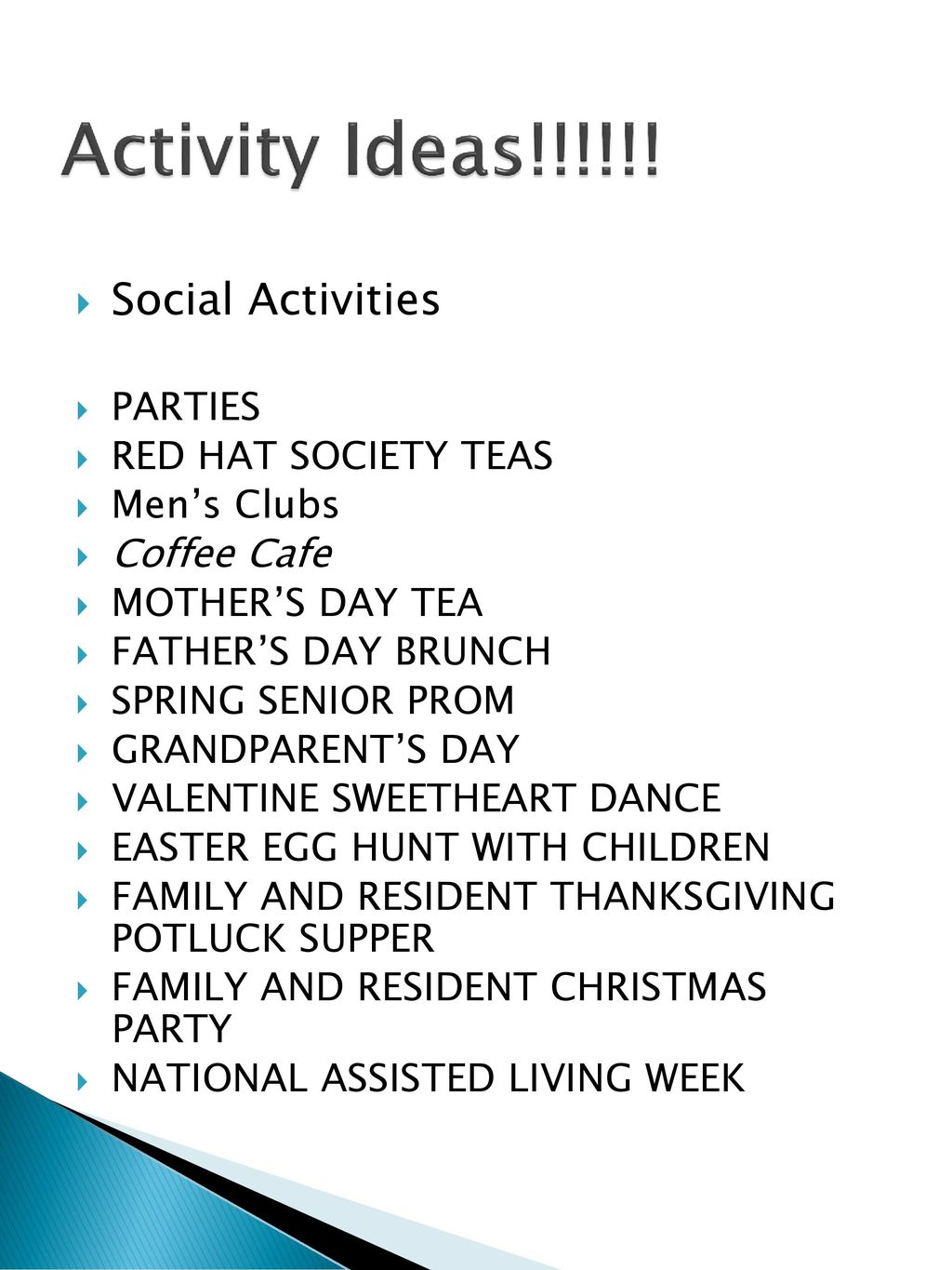 resident activities and behavior care planning - ppt download