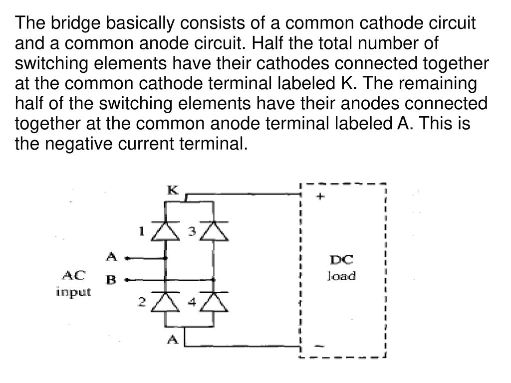 Thyristorised Power Controllers Ppt Download Diode Circuit Symbol With Anode Cathode Labeled The Bridge Basically Consists Of A Common And