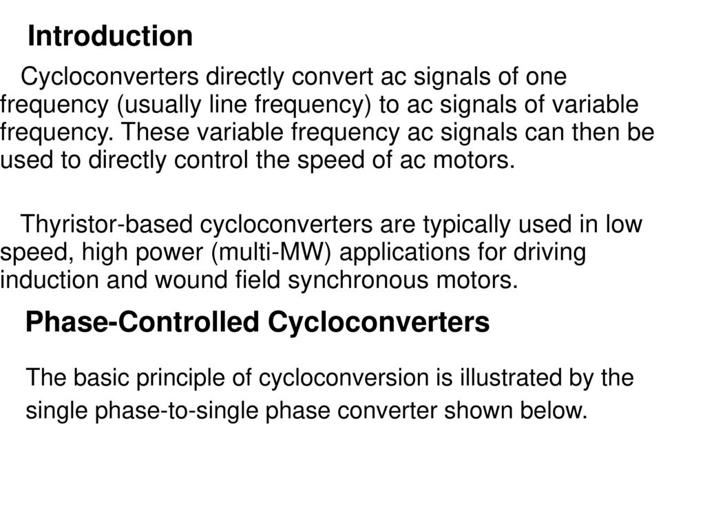 Thyristorised Power Controllers Ppt Download Dc Motor Speed Control Circuit Besides 3 Phase Scr Rectifier 96 Controlled Cycloconverters