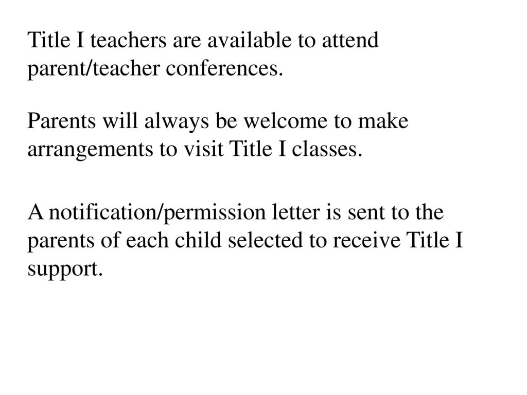 WELCOME to our TITLE I PARENT Meeting  - ppt download