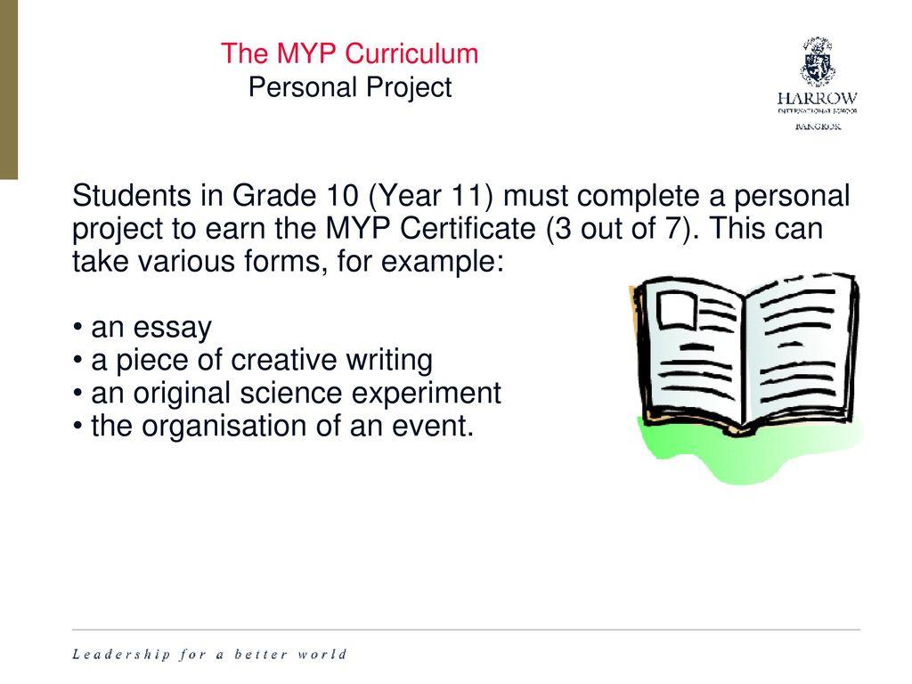 10th grade english myp syllabus