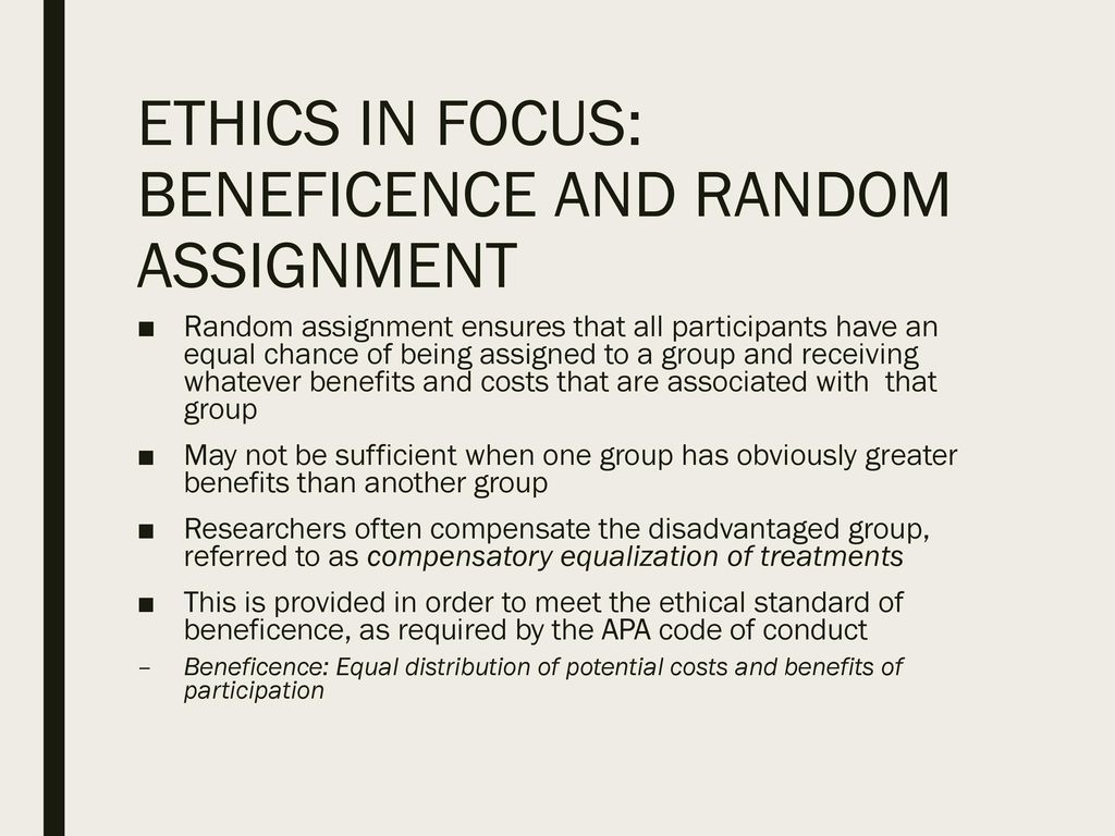 ethics and beneficence According to the university of california san francisco school of medicine, beneficence refers to acting for the good of others nonmaleficence, on the other hand, means to do no harm beneficent acts include rescuing a person from danger or helping a person to improve their situation specific.