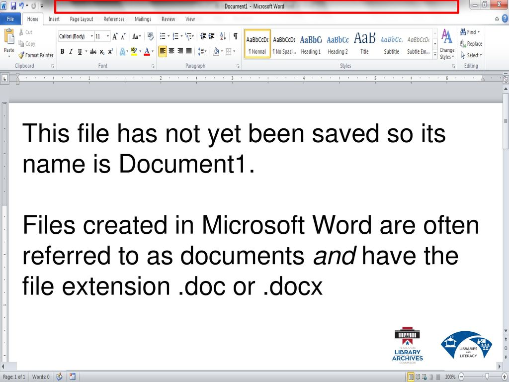 extension name of ms word