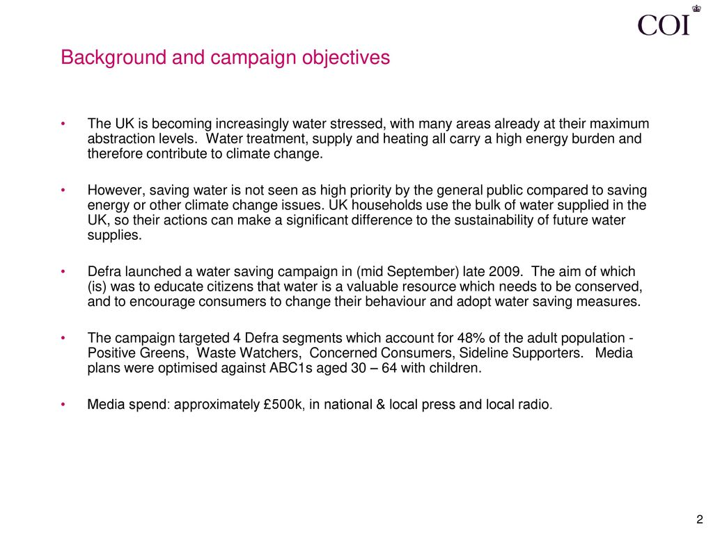 aims and objectives of water conservation