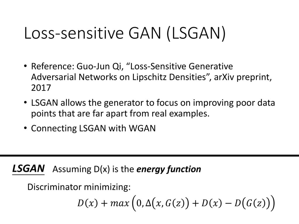Energy-based GAN Hung-yi Lee - ppt download