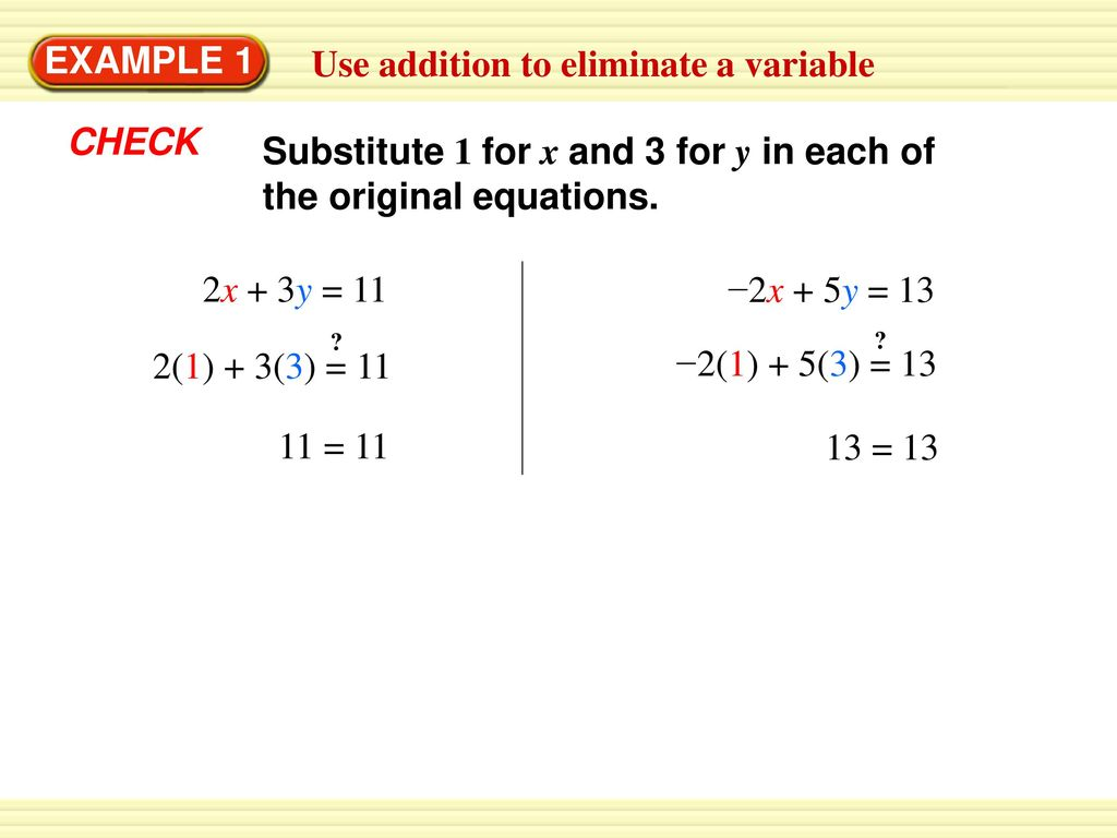 1 Solve The Linear System Using Substitution Ppt Download