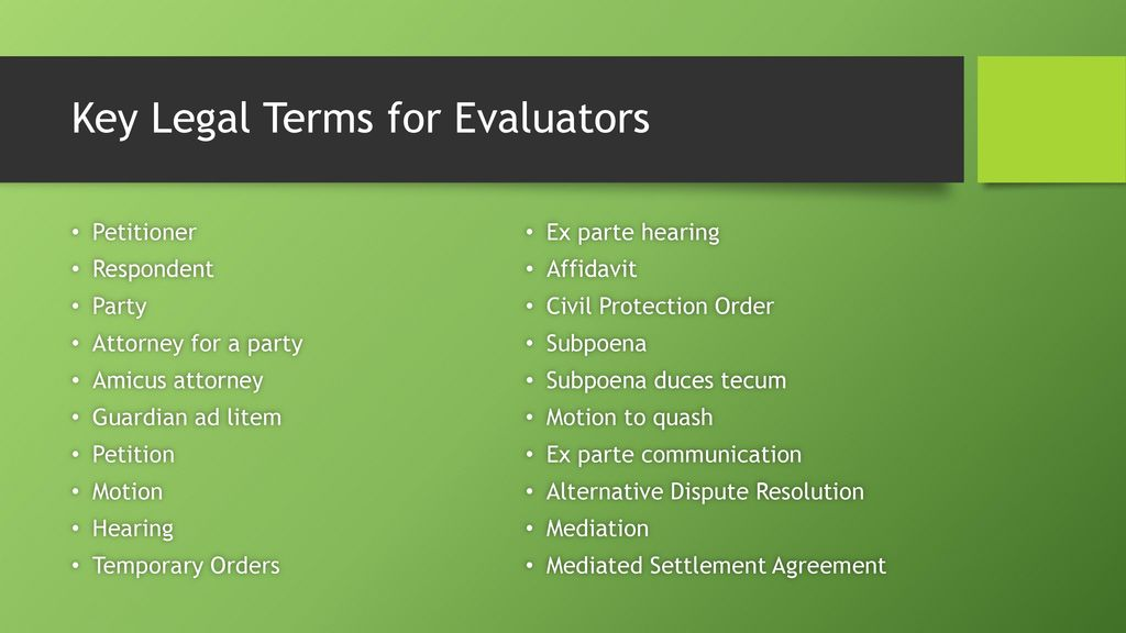 Family Law Forum Idaho Law And Parenting Time Evaluations Ppt Download