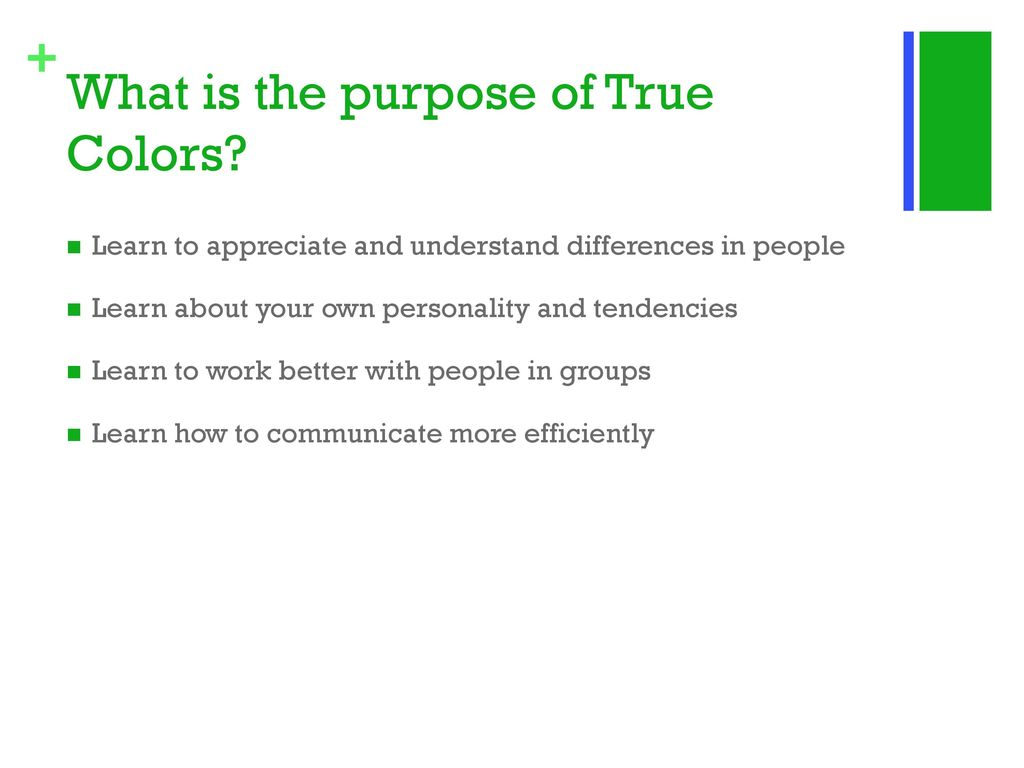 picture relating to True Colors Personality Test Printable Version known as Game toward master relating to by yourself and other individuals. - ppt obtain