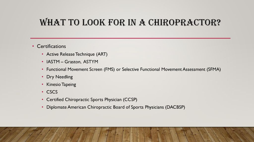 Chiropractic In Sports Ppt Download