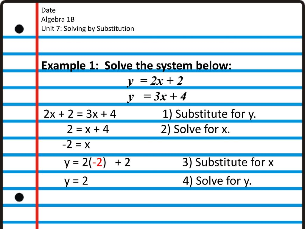 Your Name Date Algebra 1B - ppt download