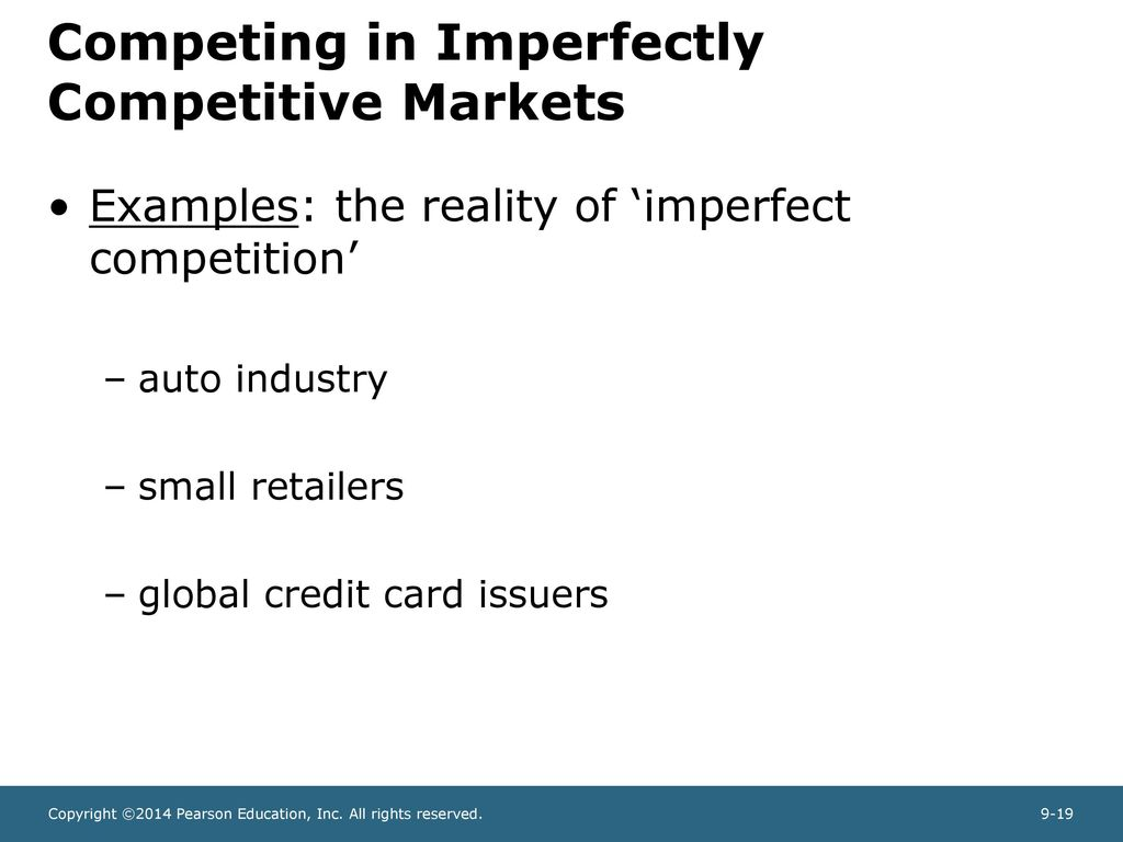 imperfect market examples